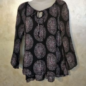 Larry Levine Peasant Blouse Like New L